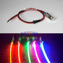 Free Shipping DIY Car Light 1PCS 12V 2W Led Optic Fiber Light Illuminator + 1m *Dia 2mm/3mm/5mm/6mm/8mm/10mm Side-glow Fiber Kit