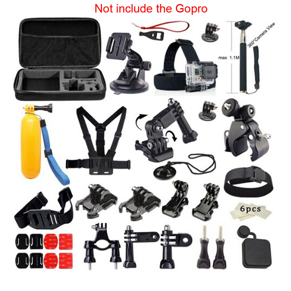 High Quality Gopro accessories set 33In1 Sports Photography Set Kit Tools 33 Different Accessories for GOPRO<br>
