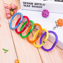 4 pcs 2017 NEW Colorful Flexible Cute Soft Plastic Bangle Bracelet Ballpoint Pens School Office Supplies Birthday Gift(China)