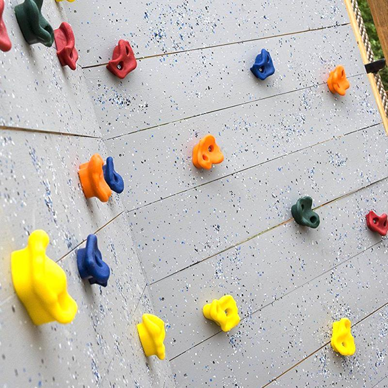 20pcs Climbing Stones Plastic Holds Grips for Kids Rock Climbing Wall Tool