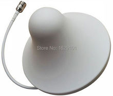 Factory Brand New 800-2500MHz internal 3-5db Omni directional Ceiling Antenna with N female For Cell phone Booster amplifier