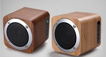 Wooden wireless Bluetooth speaker portable mini computer audio card wood small steel gun subwoofer small stereo