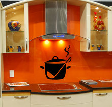 Kitchen Sign Wall Decal Removable Cooking Pan Pattern Wall Stickers Vinyl Interior Modern Design Special Home Decor Mural SYY889