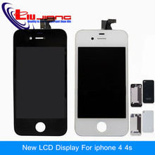 Liujiang AAA quality LCD Display For iphone 4 4g 4s Touch Screen Digitizer Frame Assembly Replacement with battery back cover