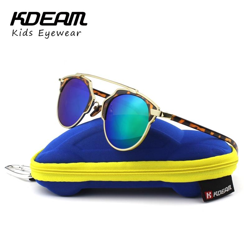 KDEAM Baby Kids Sunglasses Vintage Oval Round Sun Glasses UV400 Children Glass gafas de sol lunette de soleil enfant With Box<br><br>Aliexpress