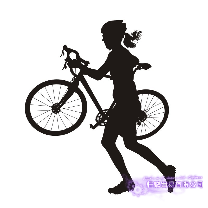 DCTAL Kids Room Women Bike Sticker Bicycle Car Decal Posters Vinyl Wall Decals Pegatina Decor Mural