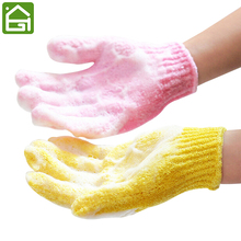 5pcs Bathwater Scrubbing Bath Exfoliating Foam Massage Gloves Dead Skin Cell Remover Spa Shower Gloves(China)