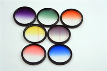 7in1 55mm Rotating Gradual grey green orange yellow red blue purple Grad color Lens Filter Kit for sony Canon nikon pentax lens