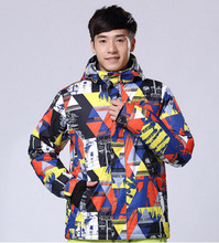 High Qualite WILD Men's Ski Jacket Outdoor Waterproof Windproof Jacket Winter -30C Degree Thermal Coat for Men Snowboard Jacket(China)