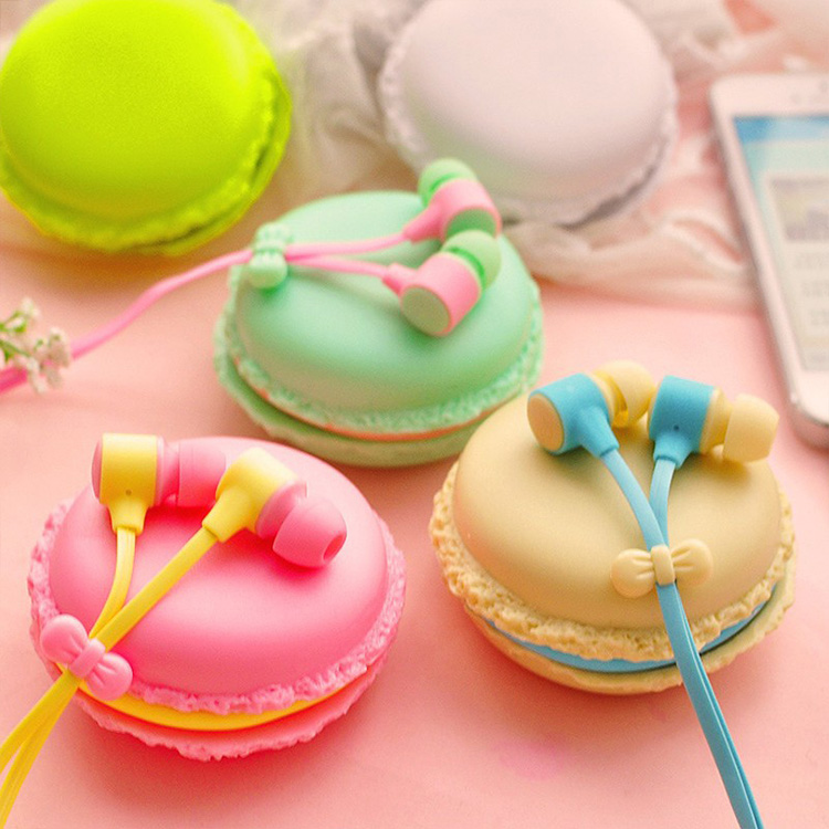 3.5mm Jack Macaron Case Packing Headphone Fashion Colorful Earphone With Mic For Phones MP3 Player Noodle Cable Earbud<br><br>Aliexpress