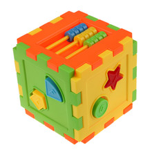 Baby Colorful Block Toy Bricks Matching Blocks Baby Kids Intelligence Educational Sorting Box Toy Free Shipping