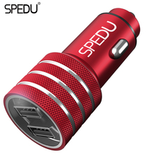 Car-Charger,SPEDU Dual USB Car Charger iphone 7 6 5s Samsung galaxy S8 Xioami Redmi Note 4X Mi5 Universal Fast Car Charger