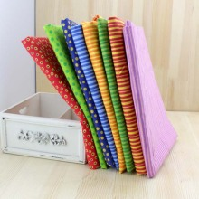 New Profusion bright colour 8 Assorted Pre-Cut Charm Cotton Quilt Fabric Tissue Bundle,Stripe Dot Print for patchwork 50*50cm
