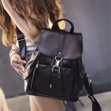 POESECHR International brand  New Fashion simple style Genuine Leather Ladies backpack multifunctional bag
