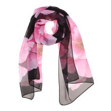 New Fashion Wonderful Chiffon Flora Long Soft Scarves Winter Spring Scarf More Color 160cm Wrap Shawls Stole For Women/GirlDM#6(China)