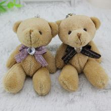 Korean printing cotton belt Tie Brown Teddy bear . Wedding bear bouquet packing material, with drill joint bear wholesale