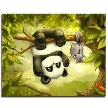 Питер ren бриллиант живопись крестом картина по номерам для рисования полный мозаика 5d diamond Вышивка вверх тормашками панда(China)