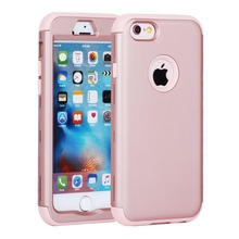 Rubber Pure Color Shockproof Hybrid Silicone PC Combo Case Cases for iPhone 7 6 6s Plus SE 5S 5 5C Back Cover