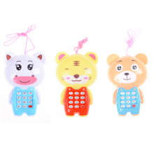 Baby Cartoon Music Phone Toys Educational Learning Toy Phone Gift for Kids Children's Toys Random Color(China)