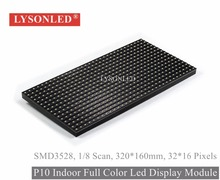 Lysonled Special Offer P10 Indoor Smd3528 Full Color Led Display Module,1/8 Scan Indoor Video P10 Smd Led Module Rgb 320*160mm