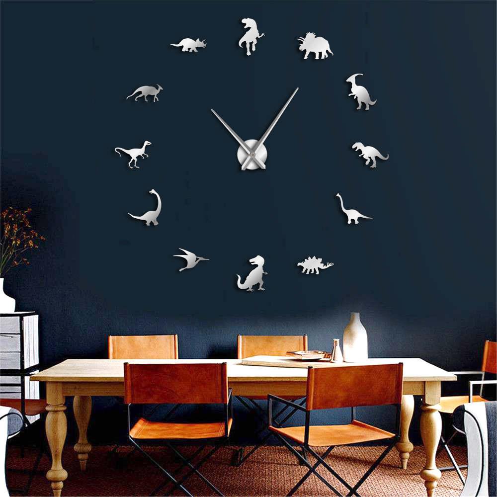 Large Size DIY Dinosaur Wall Clock