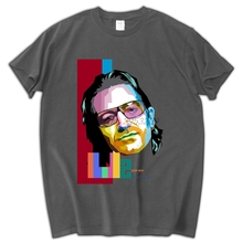 Rock Band U2 T-Shirt BONO T Shirt Men and  Short Sleeve O Neck Cotton New Alternative Rock T Shirt Tops Tee