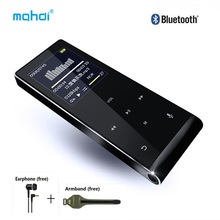 Bluetooth MP4 Player 8gb Multi-language Voice Recorder MP4 Touch Key Video Digital Mini Anti-scratch Music Player with Armband(China)