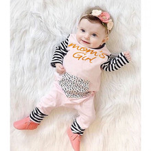 new 2016 infant newborn baby romper baby girls clothes long sleeve baby rompers leopard cotton baby girl clothing jumpsuit(China)