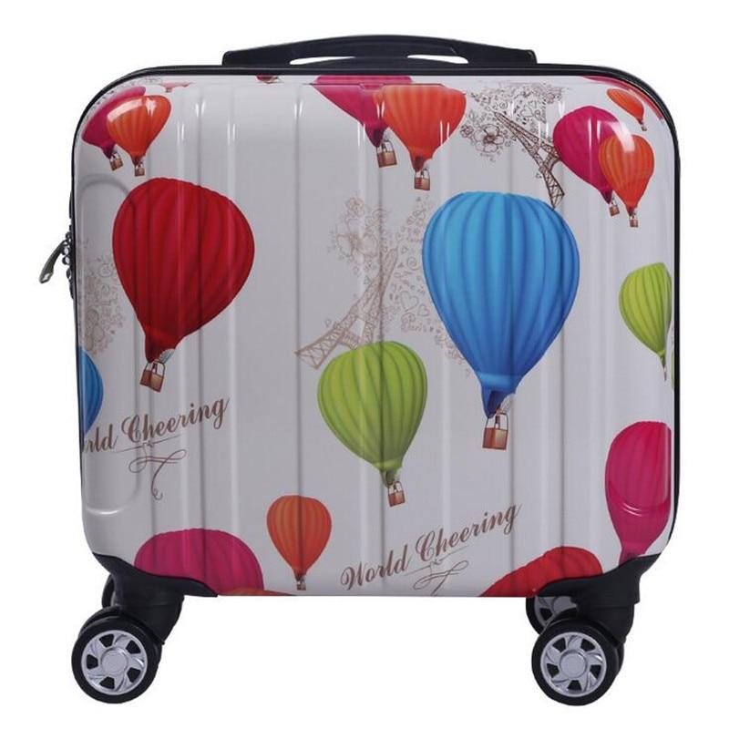 16 Inch Vintage Luggage with Universal Wheels ABS PC Men and Women Suitcase Adults Retro Pattern maletas de viaje con ruedas<br><br>Aliexpress