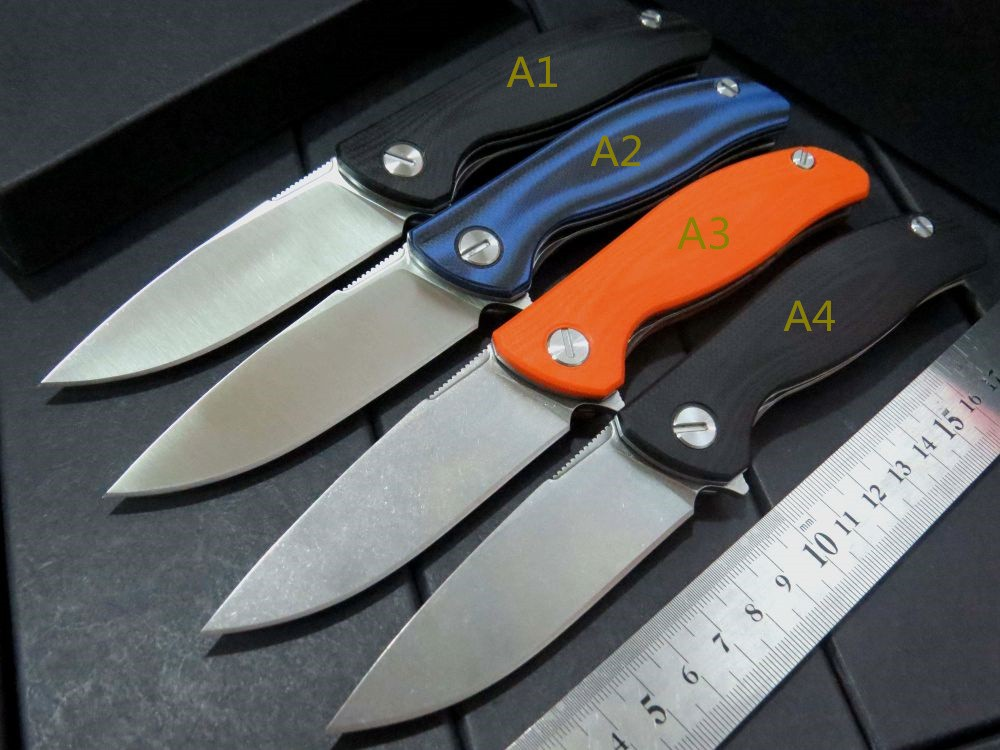 Top quality Custom Small F3 ball bearing folding knife D2 steel blade+ G10 steel handle hunting camping survival knives<br><br>Aliexpress