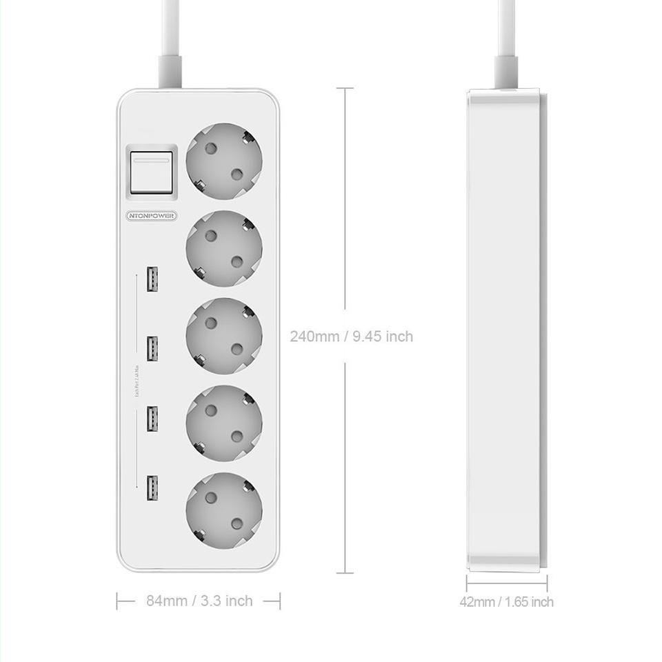 NTONPOWER MPS USB Extension Socket EU Plug (1)