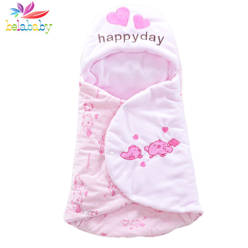 2018 Winter Newborn Baby Toddler Sleeping Bag Print Dog Soft Warm Thicken Bag for Baby Cotton-padded Sleeping Swaddle