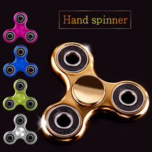 EDC Fidget Hand Plating Spinner Frame Tri-spinner Finger Puzzles Toys For Autism and ADHD Anxiety Stress Adults Kid Gift(China)