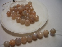 Beautiful Beads 6mm beads beige peach colored Semi Precious Stone natural Peach Sunstone Jewelry Supplies(China)