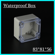 83*81*56mm Clear Cover IP65 plastic waterproof enclosure abs plastic electrical enclosure plastic box junction electronic