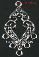 OMH wholesale 12PCS tibetan silver Earring Findings pendant Pendant earrings 33mm EH322(China)
