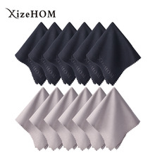 XizeHOM 30*30cm/12pcs Free shipping New Glasses Cloth Fabric Mobile Phone Camera Wipes Computer Lcd Monitor Ipad Cleaning(China)
