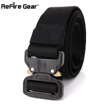 US Army SWAT Combat Tactical Belt Men Thicken Metal Buckle Nylon Military Belts Heavy Duty Molle Carry Survival Waist Belt 3.8cm