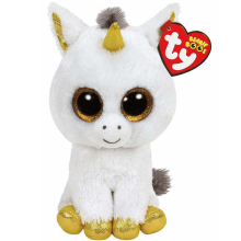 "Pyoopeo TY Beanie Boos 6"" 15 cm Pegasus the Unicorn Beanie Babies Plush Stuffed Doll Toy Collectible Soft Big Eyes Plush Toys"