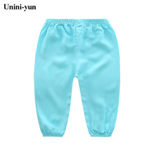 [Unini-yun] 2017 hot sale kids summer fashion girls leggings kids pants girl legging pants blue yellow white Kids trousers(China)