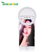 LemonBest 36-LED Smartphone Selfie Light Ring Fill Lights Battery Operated Clip on Phone(China)