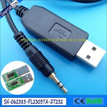 prolific pl2303ta usb rs232 adapter 2.5mm mini audio stereo jack cable for eutech benchtop and handheld meters