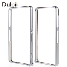 DULCII Coque for Sony Xperia Z3 Compact D5803 D5833 M55w Case Hippocampal Buckle Metal Bumper Rim Cover for Sony Z3 mini Capa(China)