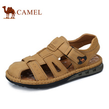 Camel men's shoes 2017 summer new outdoor sandals men's casual shoes scrub leather shoes A722344462(China)