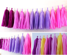 5Packs 14inch Tissue Paper Tassels Garland DIY Wedding Event Birthday Party Decoration Product Supply