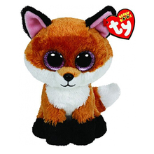 Ty Beanie Boos 6-Inch Slick Brown Fox Plush Beanie Baby Plush Stuffed Doll Toy Collectible Soft Toys Big Eyes Plush Toys(China)