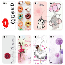 New Fashion Painted Cute Romantic Design Luxury Hard White Case Cover For Apple iPhone 5 5S SE iPhone5S Shell
