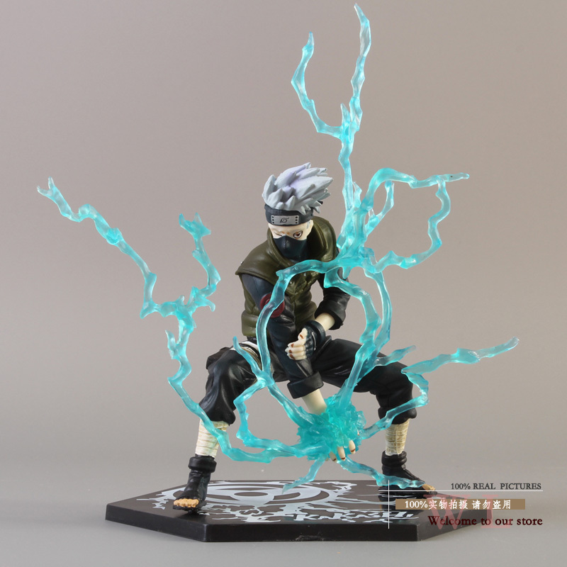 Free Shipping Anime Naruto Ninja Copiador Hatake Kakashi with Lightning Blade PVC Action Figure Collection Model Toy NG043<br><br>Aliexpress