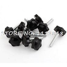 10pcs Replacement M8 x 40mm Hexagonal Clamping Knob Grip 32mm Dia
