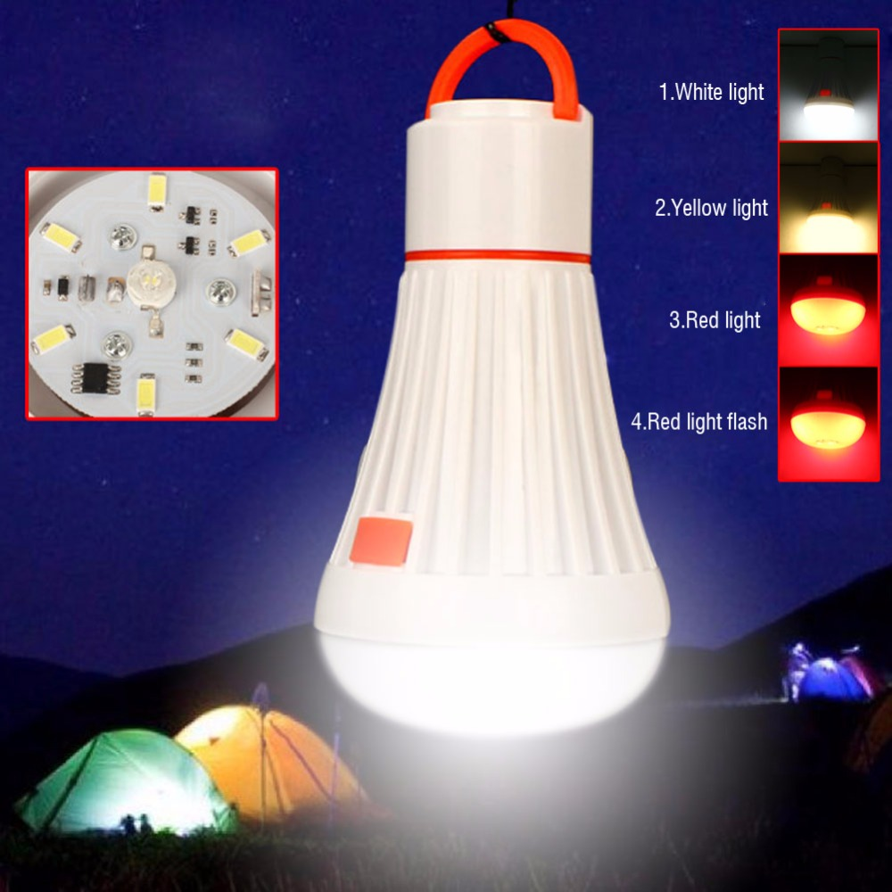 Outdoor travel camping 6LED 3W Portable Camping Tent Light Torch Lantern Flashlight Hanging Lamp